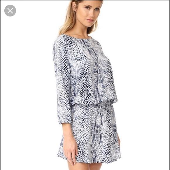 b09c8f0a4a Soft Joie Blue White Multi Animal Print Dress NWT